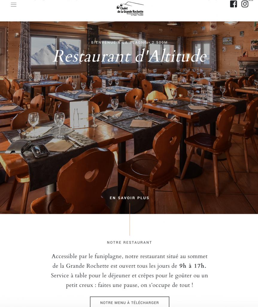 restaurant Chalet de la Grande Rochette